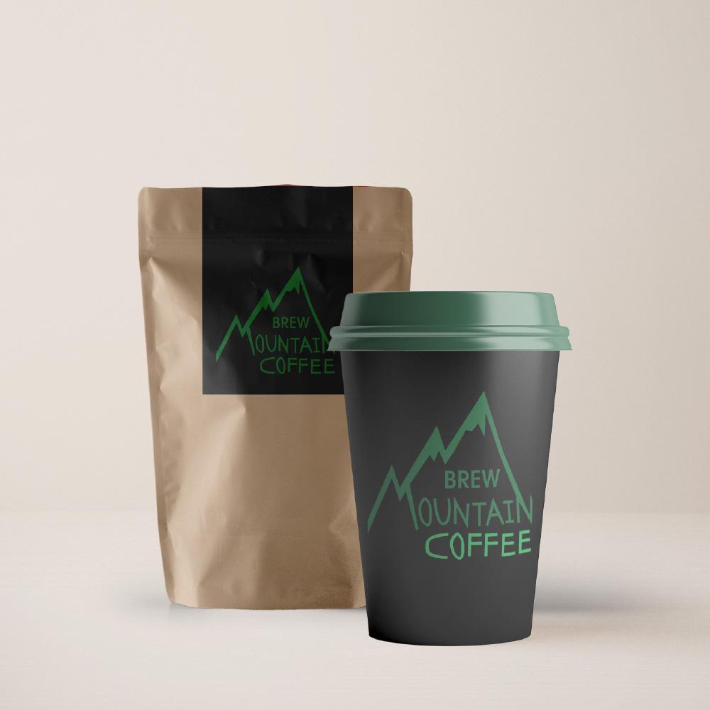 Brew Mountain Coffee Mockup
